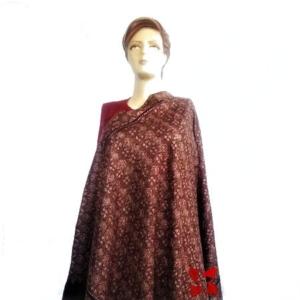Pashmina Jammawar Papier-Machie Shawl Chinar Maroon