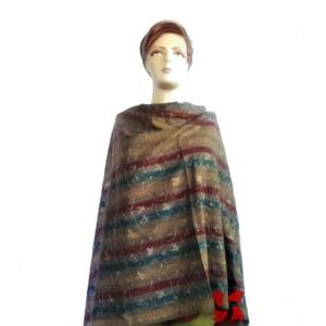 Semi Pashmina Shawl, Multi Color Jall