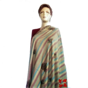 Pashmina Shawl, Botidar Multi Color Chinar